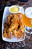 Fried chicken with mustard and beer (USA)