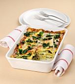 Lasagne mit Mangold und Gorgonzola
