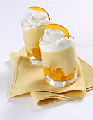 Peach mousse with cream