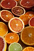 Halved citrus fruit