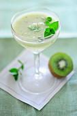 A kiwi drink with mint