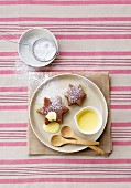 Malva pudding with creme anglaise (South Africa)