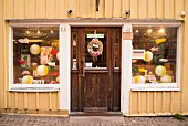 A shop in Vimmerby's Storgatan, the inspiration for Pippi Longstocking's adventures, Astrid Lindgren, South Sweden