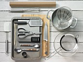 Kitchen utensils for making polenta and fish