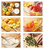 Joghurt-Vanille-Creme mit frischen Früchten zubereiten