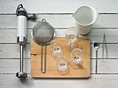 Kitchen utensils for making cocktails