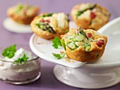 Asparagus muffins with ham