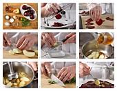Rote-Beete-Carpaccio mit Apfelsauce zubereiten