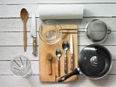 Kitchen utensils for baked potatoes and vegetables in source