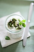 Pepper quark with herbs