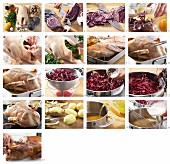 Gänsebraten mit Blaukraut und Salzkartoffeln zubereiten
