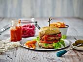 A paleo mushroom burger