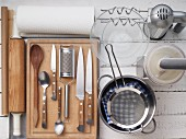 Kitchen utensils for making pizza