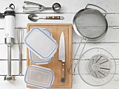Küchenutensilien für die Eis-Zubereitung