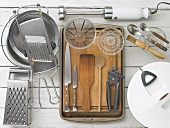 various mechanical and electric kitchen utensils