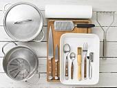 Kitchen utensils for making duck