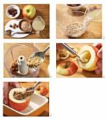 Bratapfel mit Dinkelfüllung zubereiten