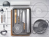 Kitchen utensils for making grilled meat and vegetables