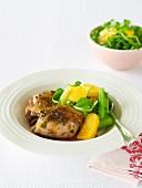 Roasted Orange Chicken with Orange & Rocket Salad
