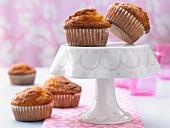 Pumpkin muffins with hazelnuts