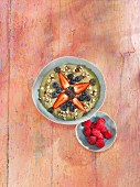 A banana and courgette smoothie bowl
