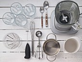 Kitchen utensils for making iced coffee