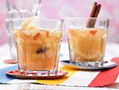 Spiced apple and raisin punch