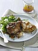 Pan-fried Spatchock and Potato Galette