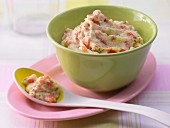 Polenta and tomato baby food