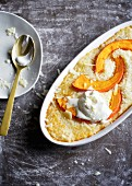Oven-baked risotto with pumpkin