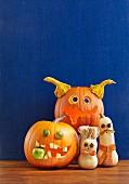 Lustige Kürbis-Monster für Halloween