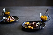 Chocolate mousse with kumquats
