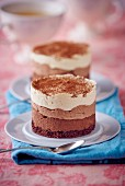 A three layer chocolate cake