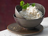 Risotto with cream cheese
