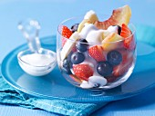Fruit salad and yoghurt