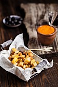 Tapas: patatas bravas with mojo rojo (Spain)