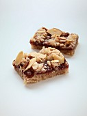 Raspberry and almond bars