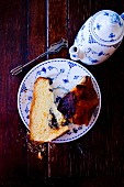 Panettone served with coffee