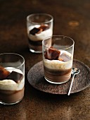 Irish cream with coffee ice cubes