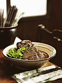 Bavarian ox cheeks in red wine sauce
