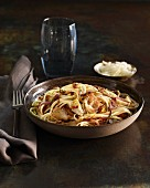 Linguine with Jerusalem artichoke