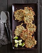 Malanga fritters with lime