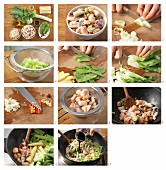 How to prepare seafood stir-fry