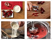 How to prepare cherry purée with cereal flakes