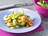 Papaya & cucumber salad
