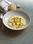 Bavarian fish soup with saffron and vermouth