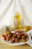 Meatballs with ketchup