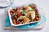 Roast Chicken with Sweet Onion Panzanella