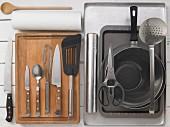 Küchengeräte für Dorade aus der Salzkruste