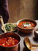 Roast tomato & Chickpea Soup with Chermoula